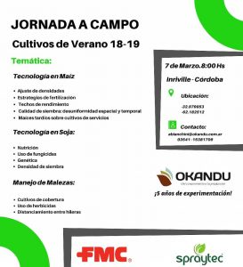 Jornada a campo @ Inriville, Córdoba