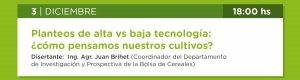 Planteos de alta vs baja tecnología: ¿cómo pensamos nuestros cultivos?